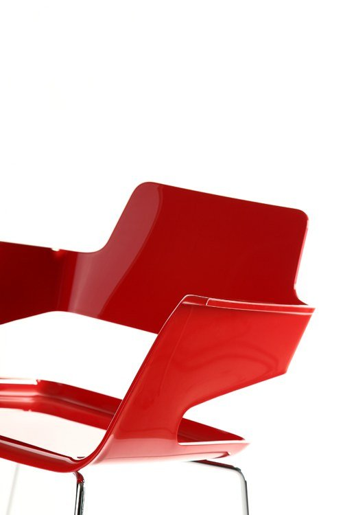Area Declic B32 Sled Base Chair Shiny Red