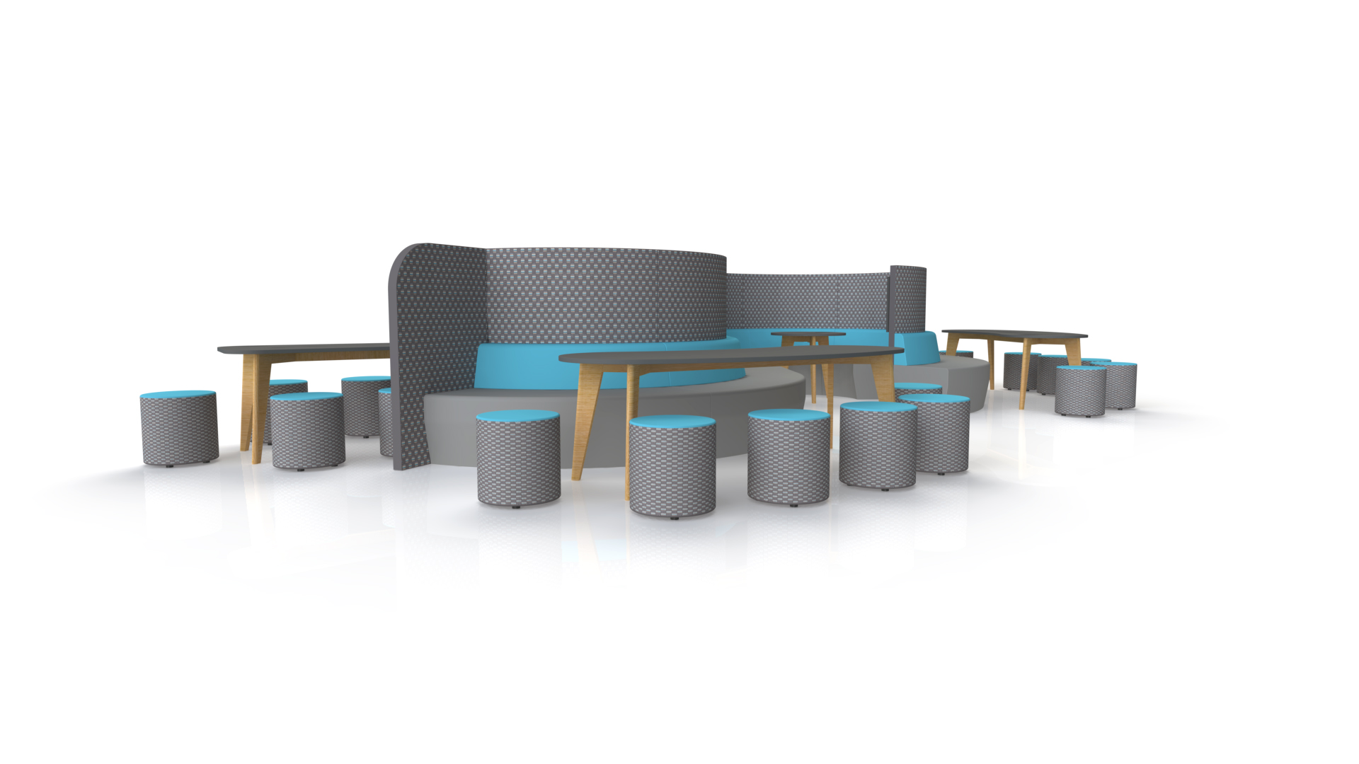 Curved Seating Meet Media v4