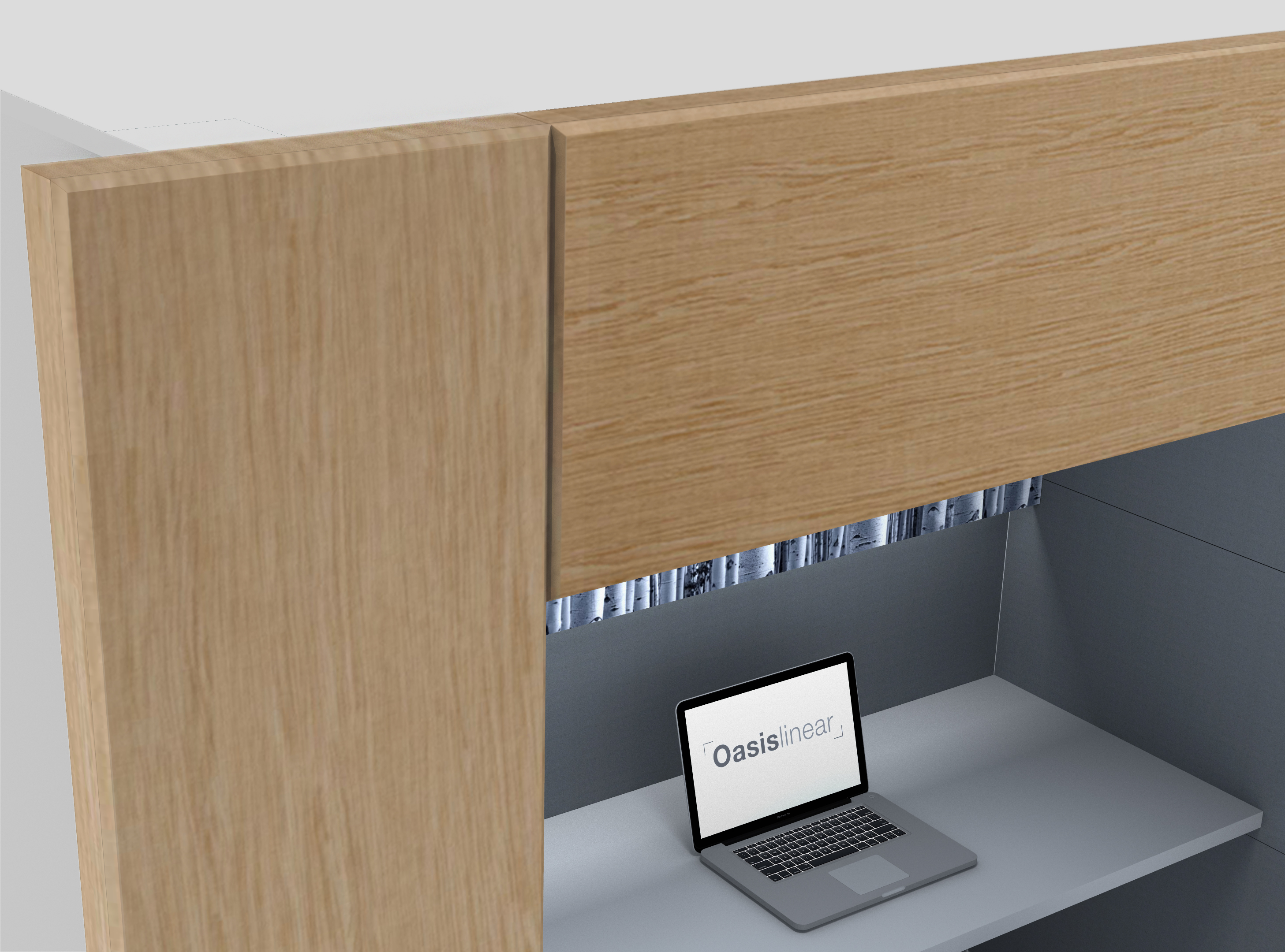 Oasis Linear Team Booth Timber Detail 2