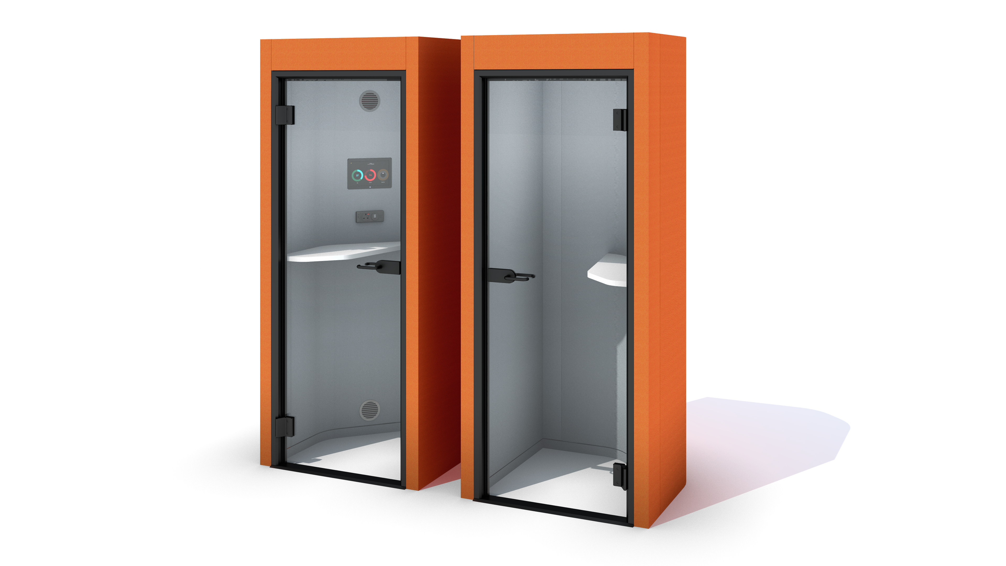 Oasis Soft Phone Booth showing both configuration