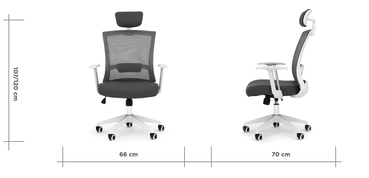 aero5 office chair grey dim